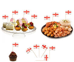 100 st george sandwich party flag food cup cake cheese cocktail
