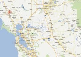 map of cities in california santa rosa california map