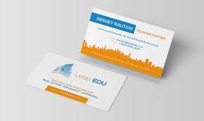 leap design lead edu business card design u2013 tiedin media