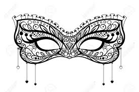 masquarade mask carnival mask black ornate lace masquerade mask vector