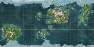 World Map To Scale by World Map Of Nirn The Imperial Library