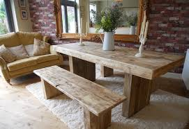 Chunky Rustic Dining Table Image Result For Rustic Table And Benches Bbr Decorating
