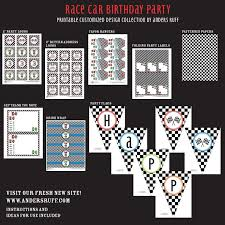car birthday party printable collection