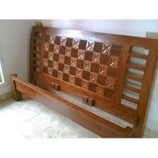 Dipan Kayu Kalimantan jual dipan kayu jati minimalis ukir kawung no 1 oleh ud lumintu