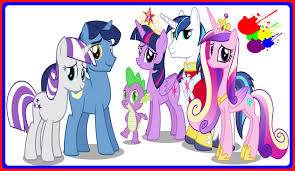 my little pony twilight sparkles family mlp coloring book