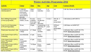 winter activities 2016 for adults and children with a disability