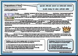 esl prepositions worksheet