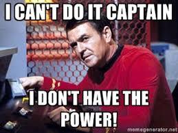 Star Trek Meme Generator - i dont have the power meme mne vse pohuj