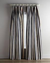 Black And White Stripe Curtains Bowen White Beige Striped Panel