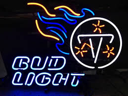 bud light nfl neon sign nfl tennessee titans bud light neon light sign 18 x 15 nfl