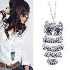 vintage owl pendant necklace images Ladies vintage owl pendant necklace quality gifts jpg