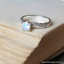 moonstone engagement rings moonstone engagement ring bright finish promise ring gemstone