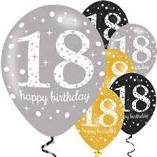 balloons for 18th birthday balloons 11 happy 18th birthday gold sparkling celebration balloons