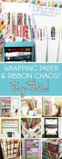 organizing with style genius wrapping paper organizer ideas