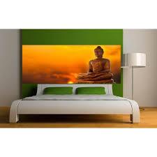 deco chambre bouddha stickers tête de lit déco chambre bouddha dimensions 100x39cm