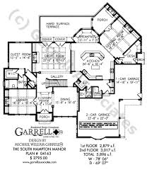 southern style home floor plans south hton manor house plan house plans by garrell associates