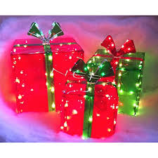 indoor lighted gift boxes 3 lighted gift boxes christmas decoration yard decor 150 lights