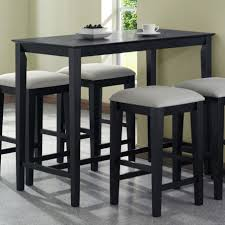 counter height console table with black color table and stool and