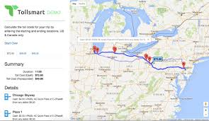 Chicago Toll Roads Map by Free Toll Calculator Tollsmart Toll Calculator