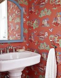 wallpaper bathroom designs 139 best june st powder room images on bathroom