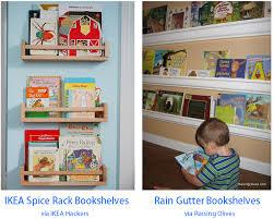 Kid Bookshelves by Rain Gutter Bookshelves Rookie Mom U0027s Pinterest Challenge