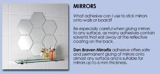 Remove Mirror Glued To Wall Home Dzine Home Diy Guide To Using Adhesives