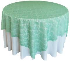 tiffany blue aqua lace table overlays topper wedding