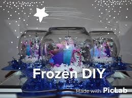 party centerpieces dollar tree frozen party centerpiece diy easy snow globe