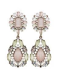 Pink Chandelier Earrings Statement Earrings Drop Earrings Pink Chandelier