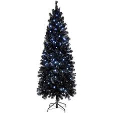 werchristmas pre lit slim black christmas tree 1 8 m 6 feet
