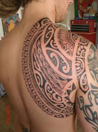 maori tribal tattoo for shoulder real photo pictures images and