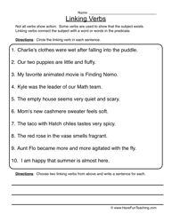 helping and linking verbs worksheet worksheets
