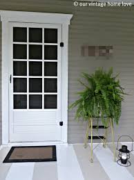 Painted Porch Floor Ideas by Our Vintage Home Love Spring Summer Porch Ideas
