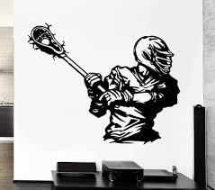 compare prices on sports stickers lacrosse online shopping buy free shipping wall decal sport american lacrosse player game ball vinyl sticker home decor living room