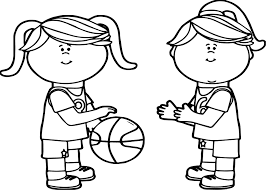 girls passing playing basketball coloring page wecoloringpage
