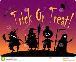 trick or treat halloween poster stock vector image 75533896
