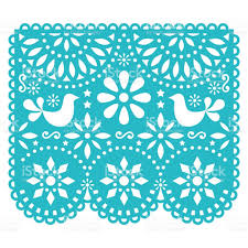 papel picado vector template design mexican paper decorations with