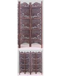 holiday savings benzara carved screen elephant wood room divider
