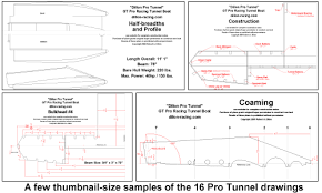 boat plans 11 foot tunnel boat up to 40 hp