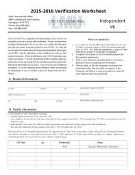 2016 2017 verification worksheet v1 financial aid office