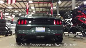 2 3 l mustang performance parts 2015 roush performance 2 3l ecoboost axle back exhaust