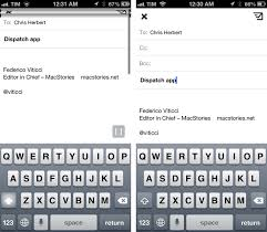 email keyboard layout iphone dispatch a new email client for ios with app actions and snippets