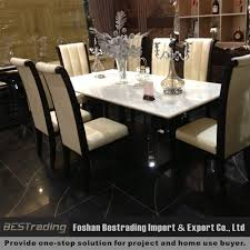 modern stainless steel base leather marble dining table buy