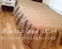 Burlap Bed Skirt Romantic Bed Skirt Etsy