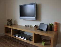 cabinet oak wood floating tv stand with laminate wood flooring