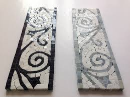 carrara marble italian white bianco carrera flower mosaic border