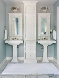 Bathroom Pedestal Sink Ideas How To Get Two Sinks And Storage In A Small Bathroom For The