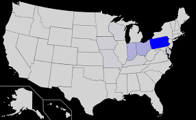 list of us states amish population map amish population per state x mapporn