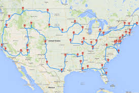map us this map shows the ultimate u s road trip mental floss
