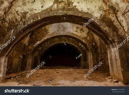 old abandoned tunnel underground wine cellar stock photo 737152984